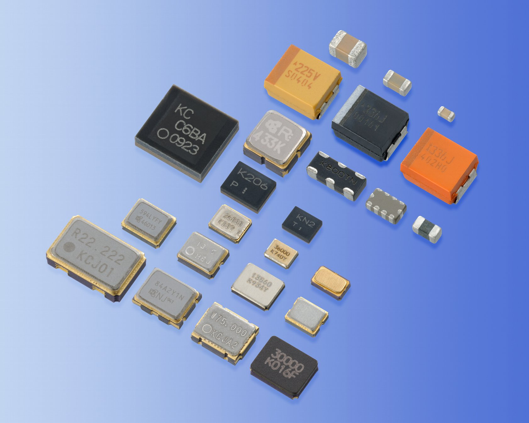 Electronic components' photo